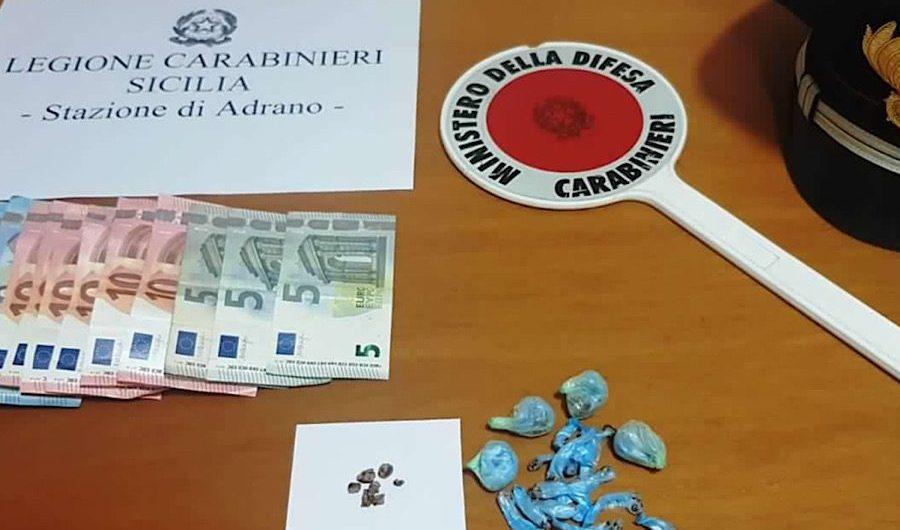 Adrano. Chiede scusa ancor prima della contestazione dei carabinieri: arrestato per droga