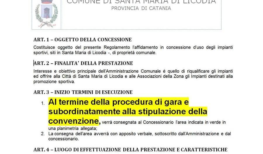 Affidamento palestra, ASD Santa Maria Di Licodia replica: «Noi autorizzati». Confermiamo: «Violato il regolamento»