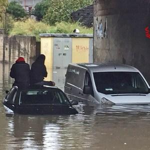 Pioggia intensa, allagato sottopasso Belpasso-Valcorrente