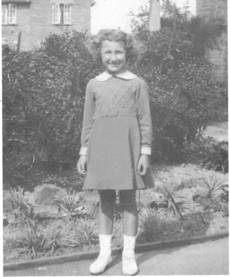 Yvonne as a young girl