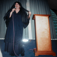 Dressed up as Morticia