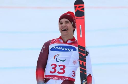 Theo Gmur won three golds on his Paralympic debut at PyeongChang 2018