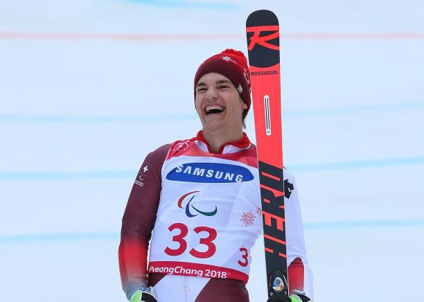 Theo Gmur won three golds on his Paralympic debut at PyeongChang 2018