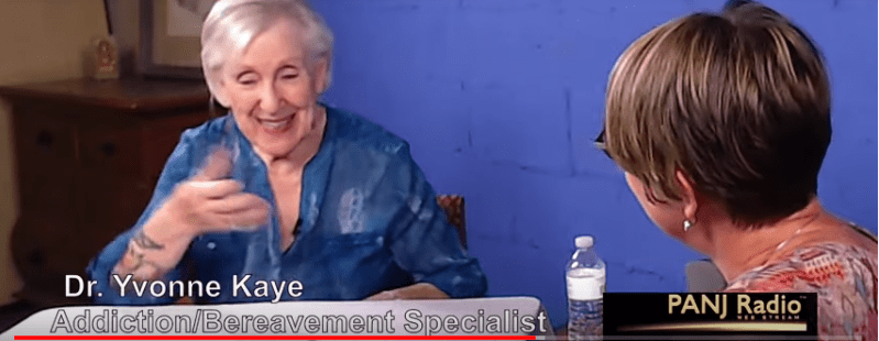 Sue Begent interviewing Yvonne Kaye