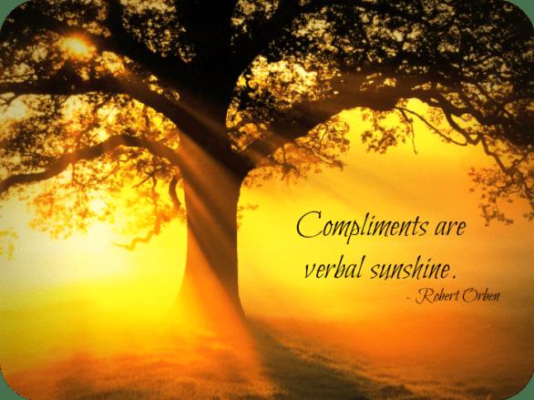 compliments verbal sunshine
