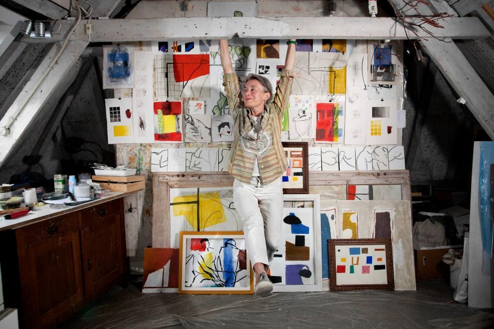 Yvonne Mutsaerts in her studio