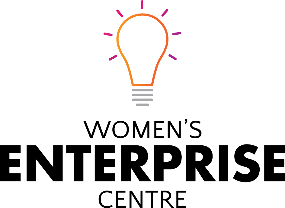 The Women's Enterprise Centre logo with a light bulb icon above it