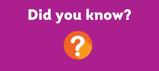 "A text box that reads ""Did you Know"" with an orange question mark."