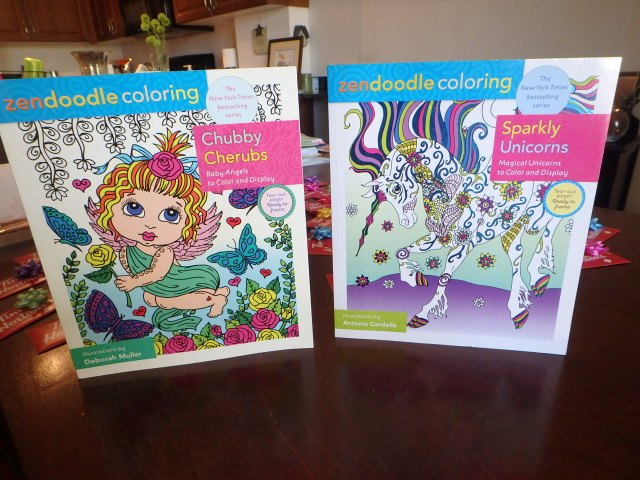 Donated adult colouring books