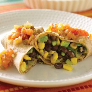 corn and black bean burritos