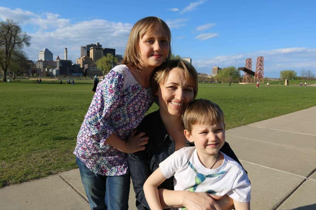 Irina and her children