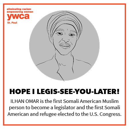 shareable valentine image of Ilhan Omar