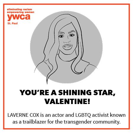 shareable valentine image of Laverne Cox