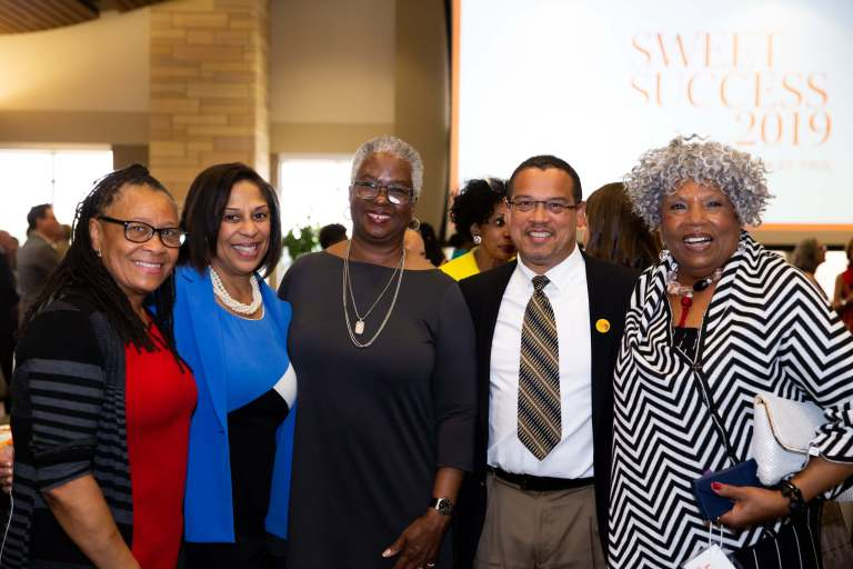 Group of prominent local African American leaders at Sweet Success 2019