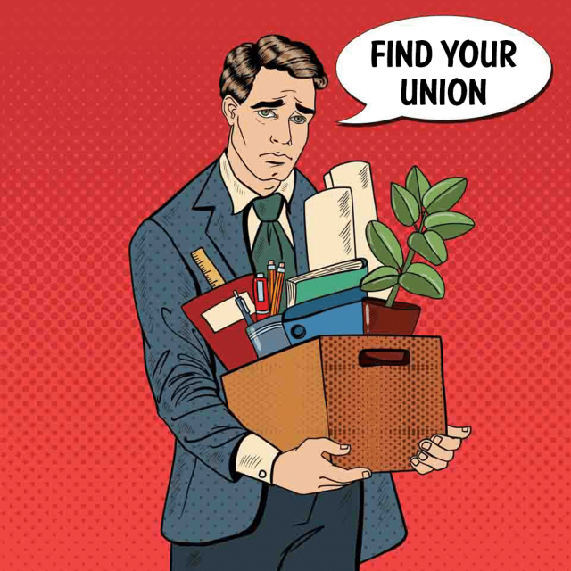 find your union button