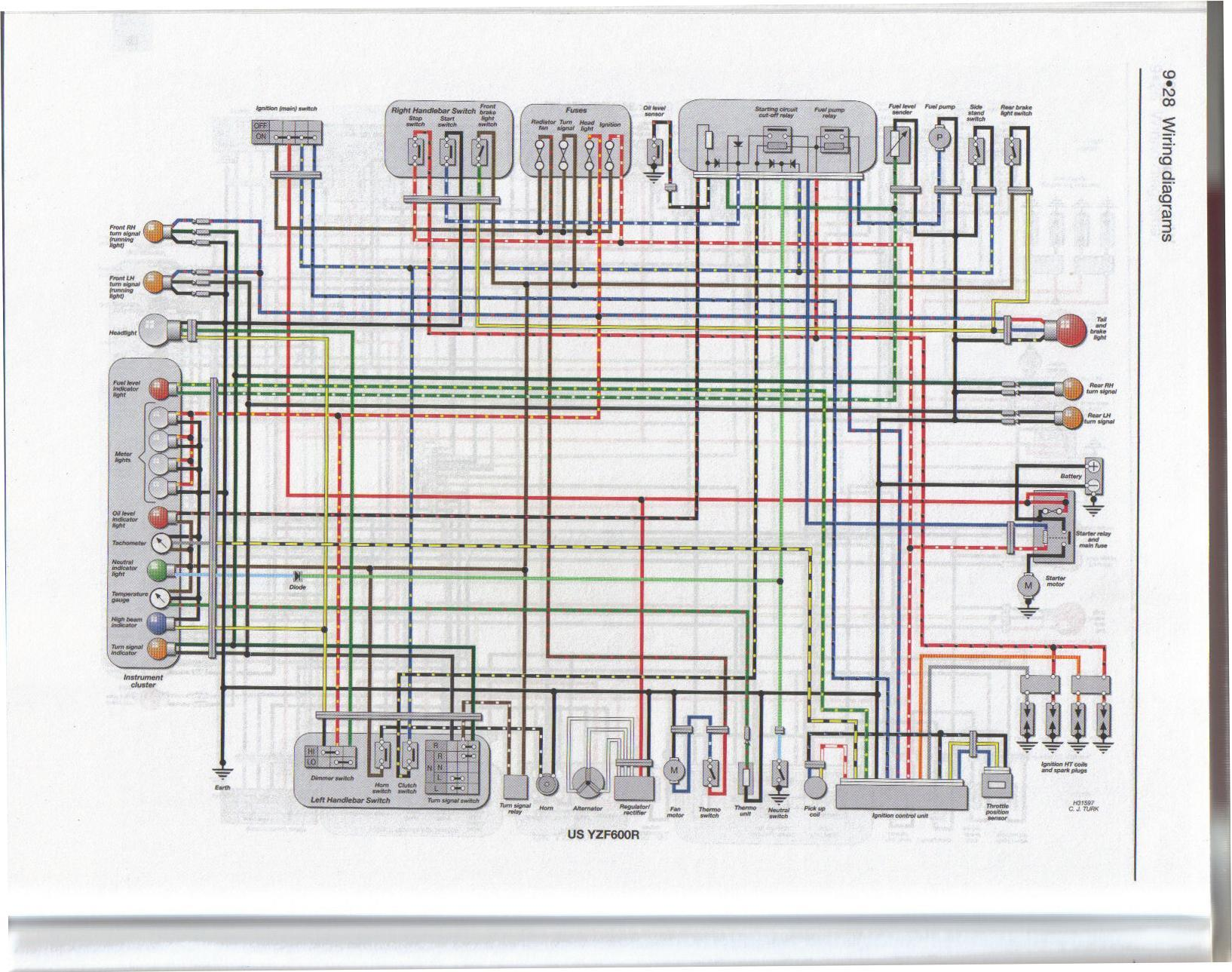 hight resolution of yzf600r wiring diagram