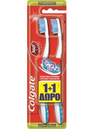 Οδοντόβουρτσα Colgate 360 Max White One Medium 1+1 Δώρο 8714789926568-GREEN-PURPLE