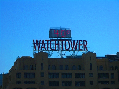 NY- Watchtower Sign in Brooklyn