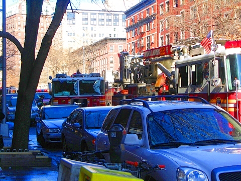 NY- Fire Department of New York at Metro Diner on Broadway