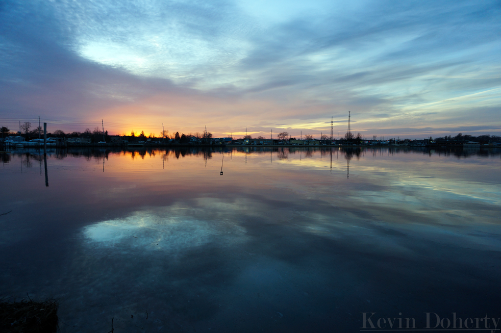 South Toms River Sunset 3-11-14 – Surface Level