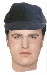 Composite sketch of assailant on 12-year old girl in Claremont.  Joseph Davall was arrested in Yucca Valley on April 18.