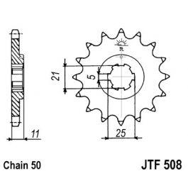 530 (JTF508 series) 14T Fr Sprocket
