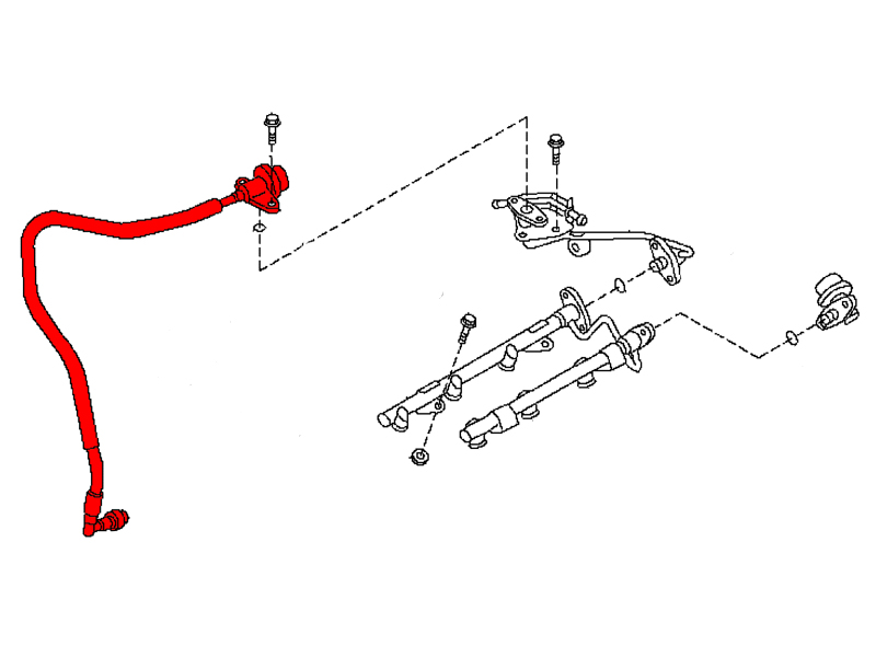 OEM Fuel Damper Line