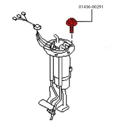 300zx Fuel Sending Unit Diagram 98 Toyota Corolla Wiring Oem Pump Bulkhead Bolt Z1 Motorsports Nissan Assembly Bolts For Your 90 96 This Holds The To Tank Over Time These Rust