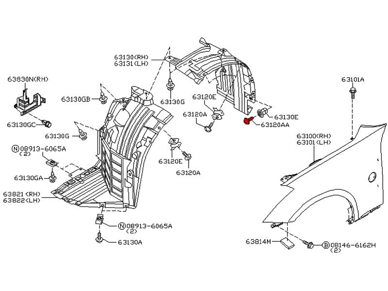 OEM Fender Liner Screw, Z1 Motorsports