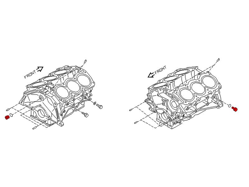 OEM Cylinder Block Blind Plug, Z1 Motorsports