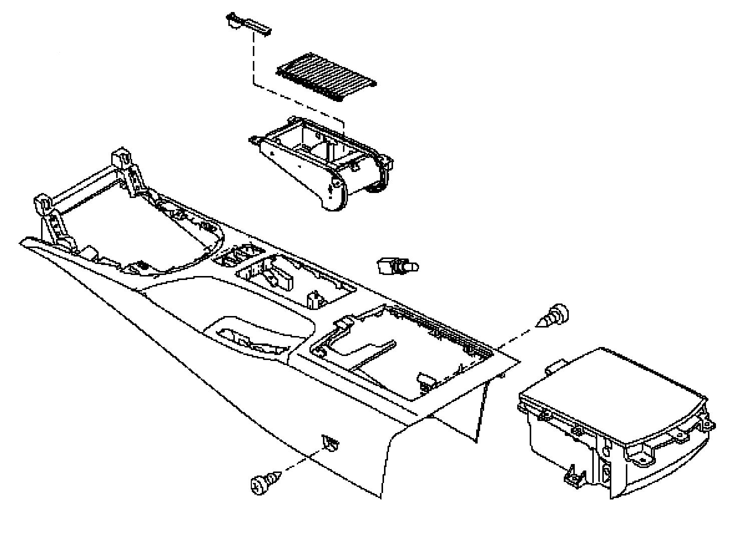 Oem 350z Center Console Assembly