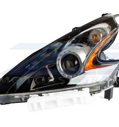 oem 370z black headlight assembly 15 nismo 17 370z 898 00 [ 1200 x 900 Pixel ]