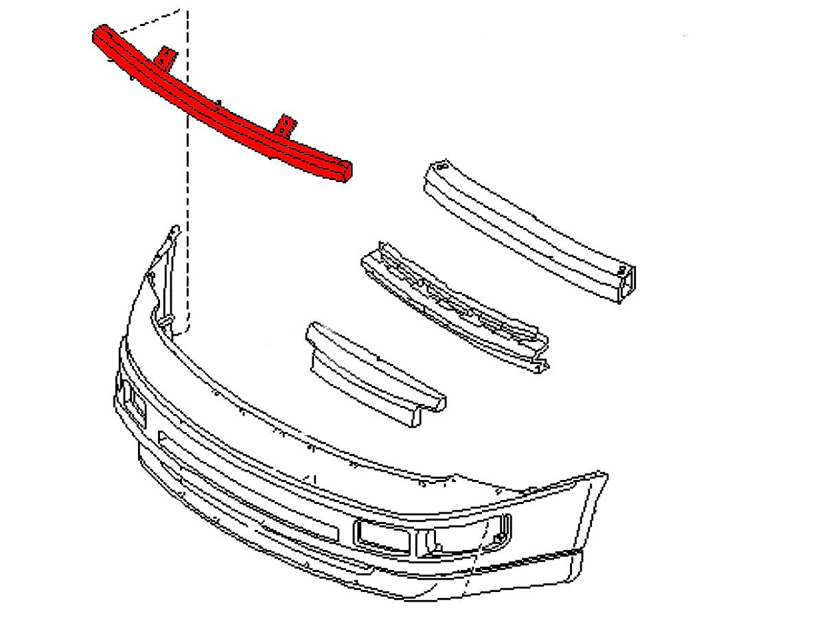 OEM 300ZX (Z32) Aluminum Front Bumper Support Bracket, Z1