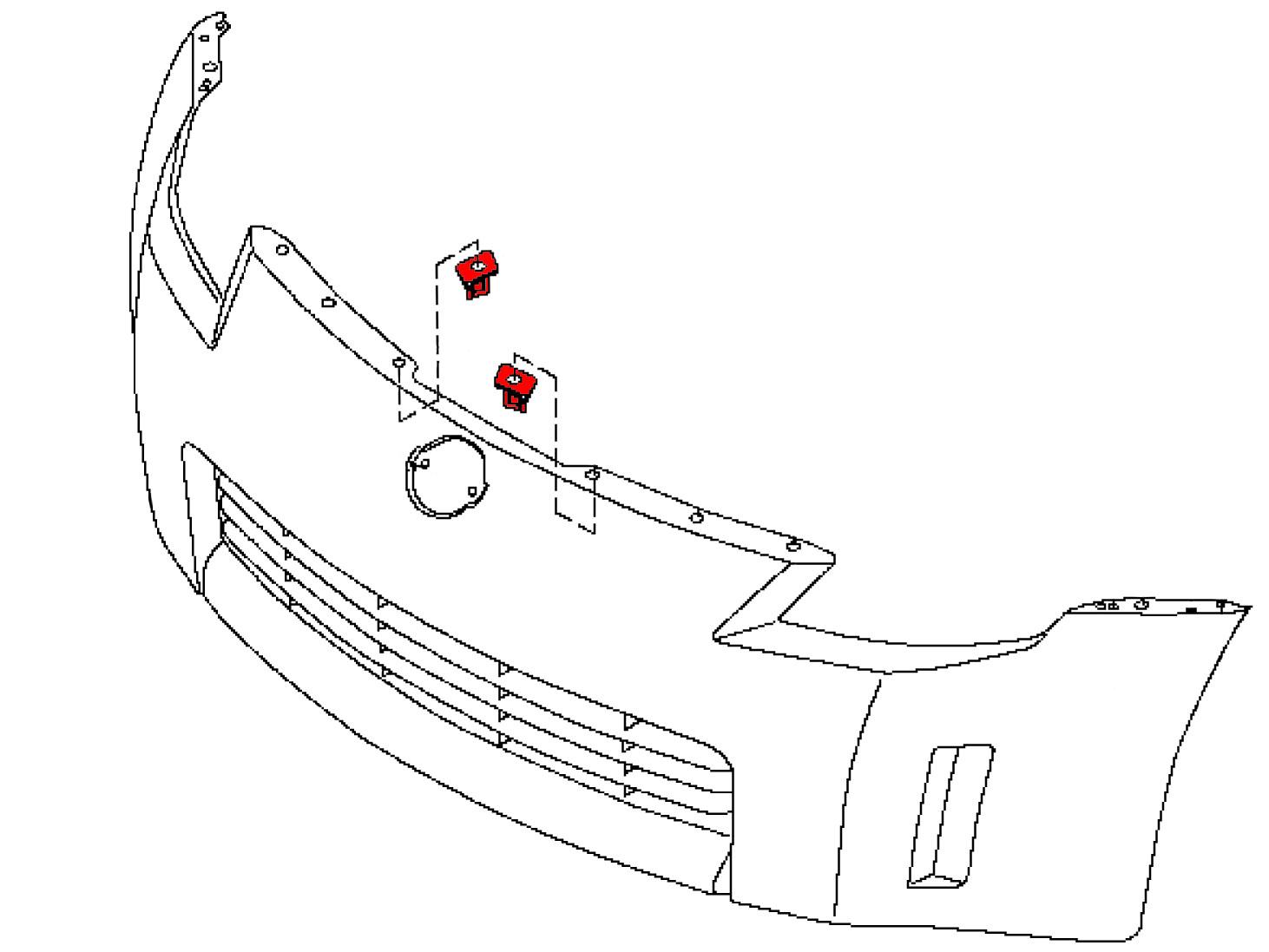 Oem 350z Front Bumper Clip Retainer Stiffener