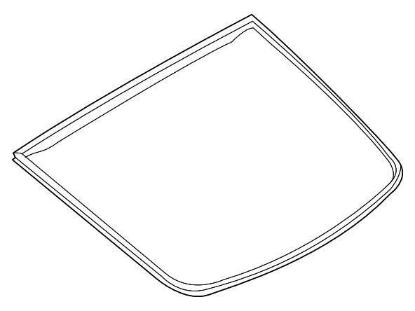 OEM 350Z Rear Hatch Glass Moulding, Z1 Motorsports