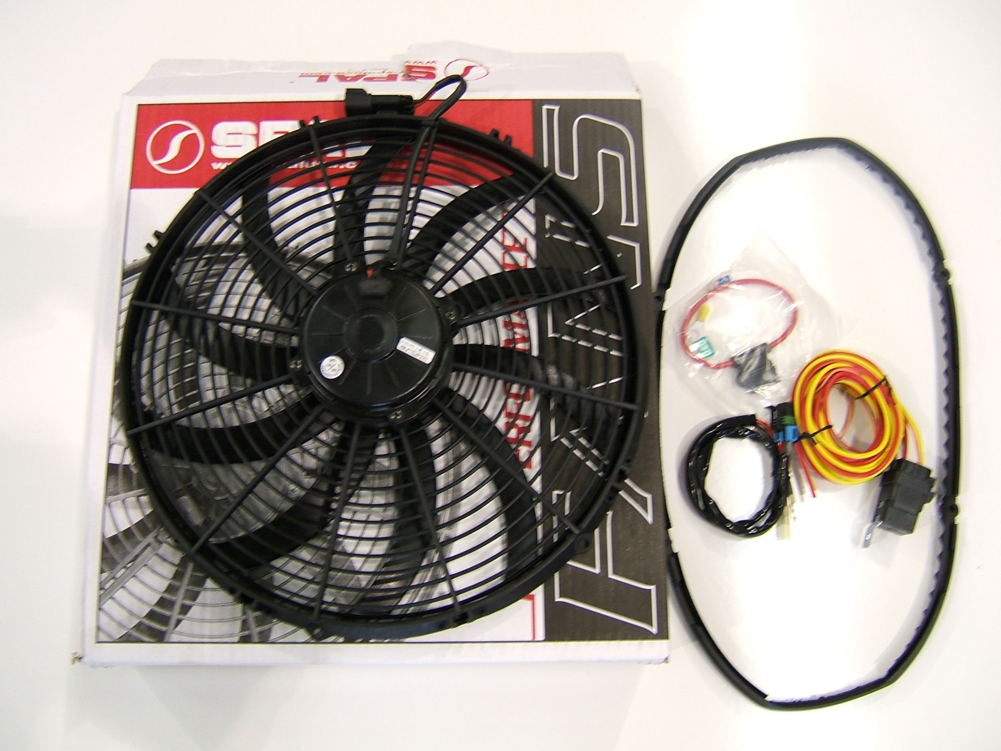hight resolution of z1 motorsports spal electric fan setups flow over 3300 m3 hr at static pressure an electrically driven fan reduces parasitic losses associated with