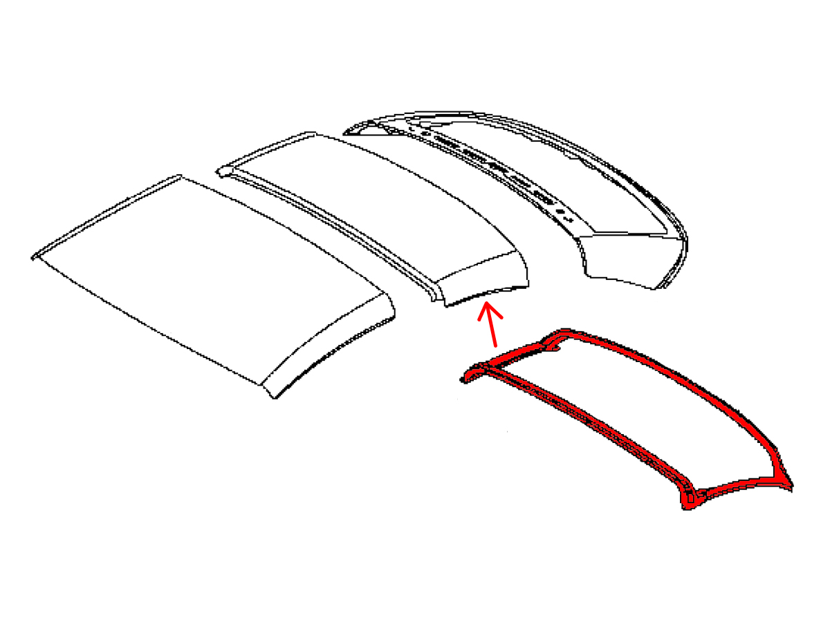 Oem G37 Convertible Roof Weatherstrip