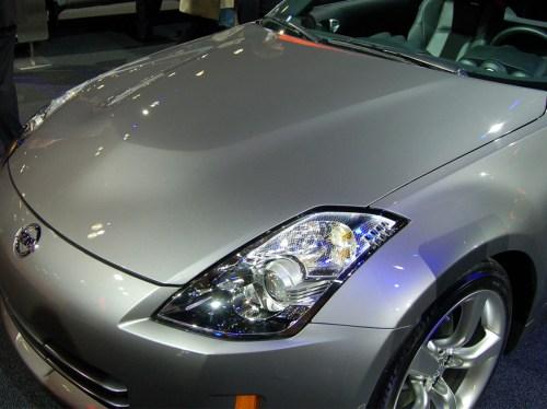 small resolution of oem nissan 350z aluminum hood 598 00 548 00 part