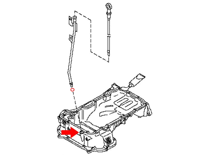 OEM VQ Dipstick Guide O-Ring, Z1 Motorsports 300ZX