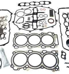 oem engine gasket set for the vq35de vq35hr found in the 350z and g35  [ 1200 x 900 Pixel ]