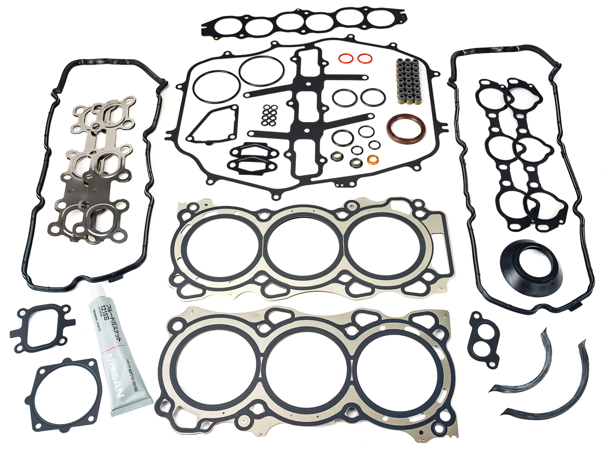hight resolution of oem engine gasket set for the vq35de vq35hr found in the 350z and g35