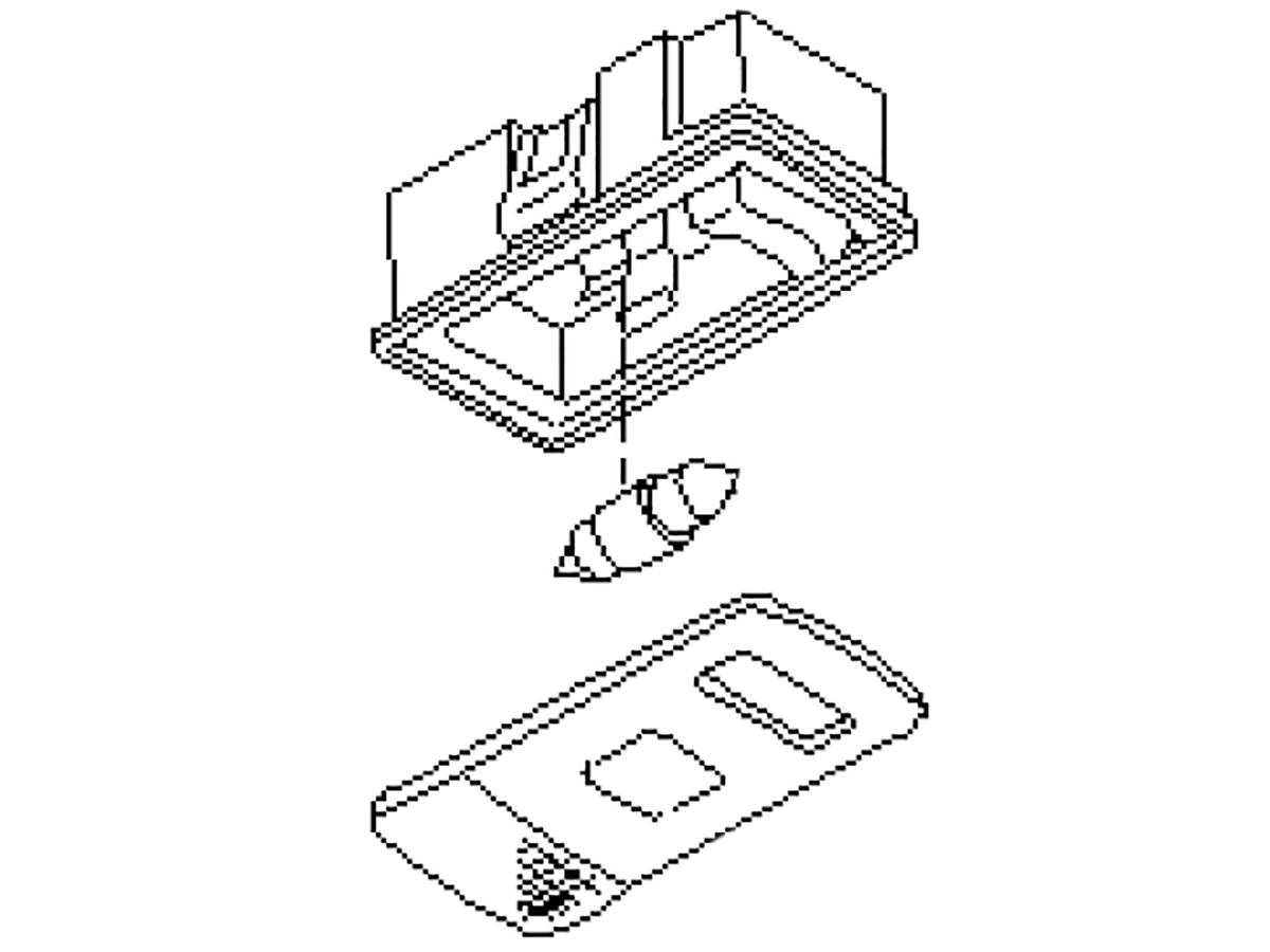 OEM FX35 / FX45 Rear Cabin / Cargo Light Assembly, Z1