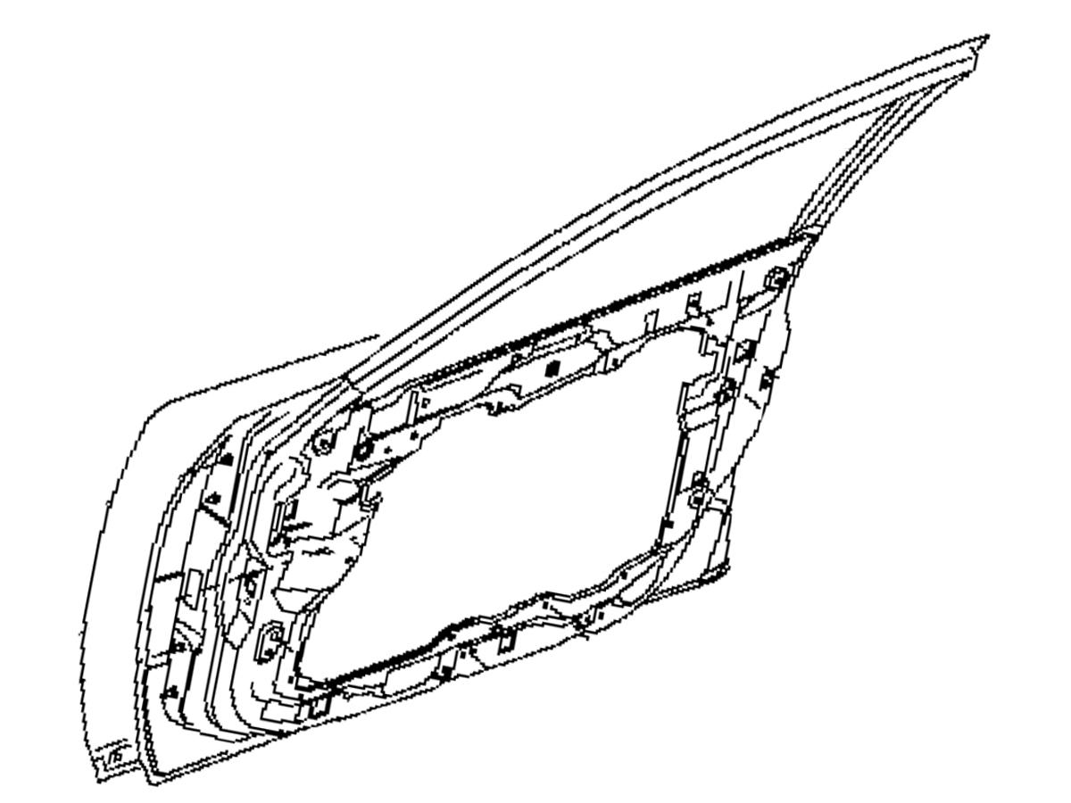 OEM FX35 / FX45 Front Door Assembly, Z1 Motorsports
