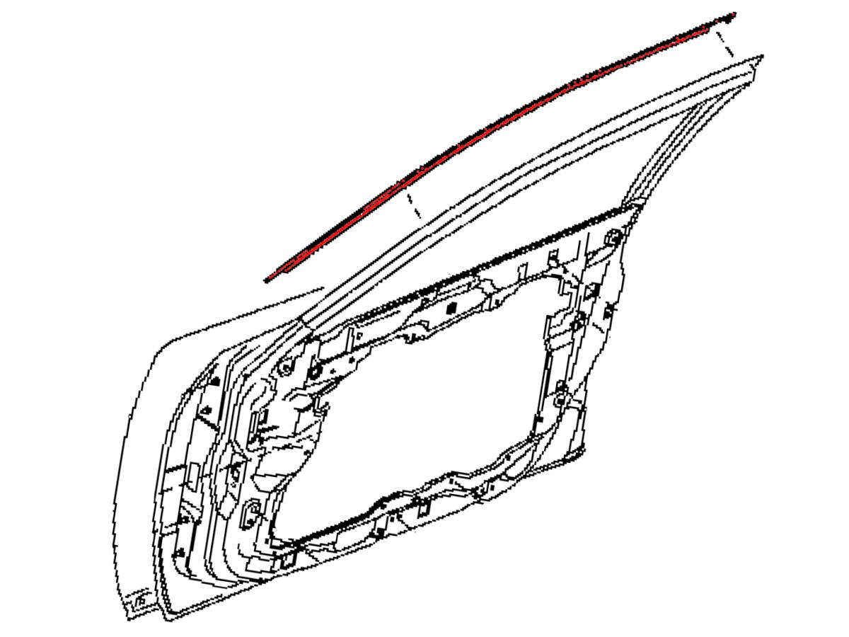 Oem Fx35 Fx45 Front Door Outer Upper Trim Z1