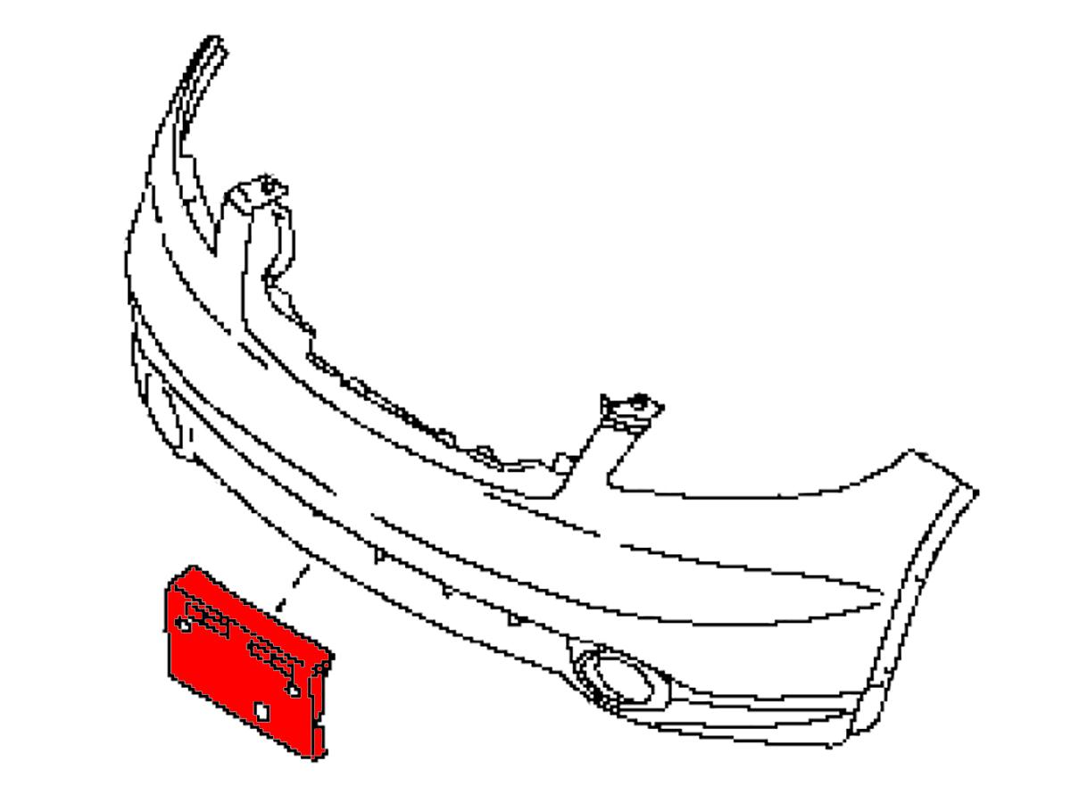 OEM FX35 / FX45 Front License Plate Bracket , Z1
