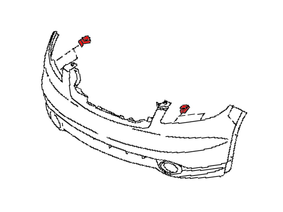 OEM FX35 / FX45 Front Bumper/Fascia Support Side Clip