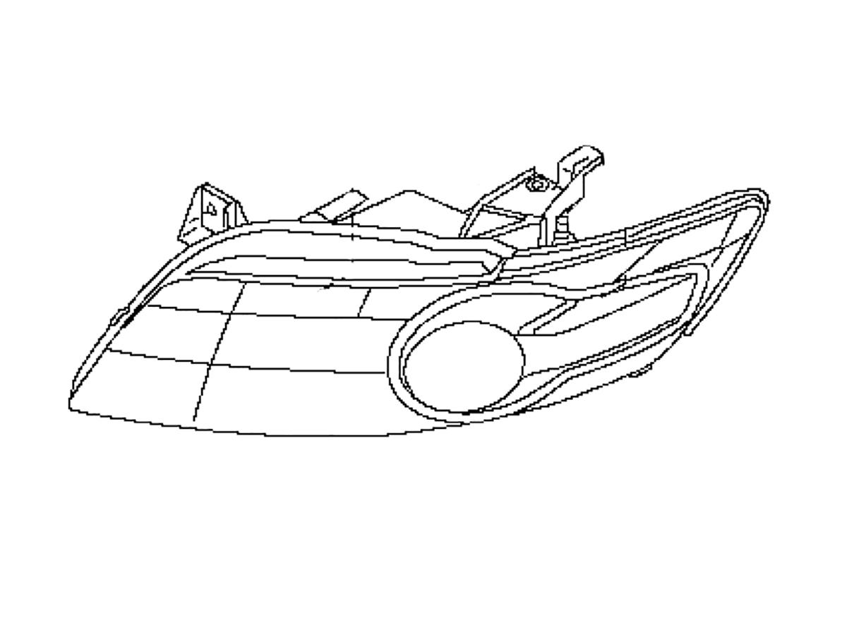 Xenon Fx35 Fx45 Headlight Housing Z1 Motorsports