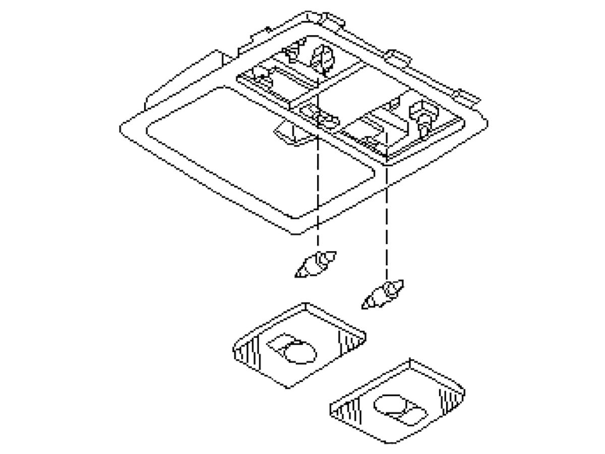 Oem Fx35 Fx45 Map Light Assembly
