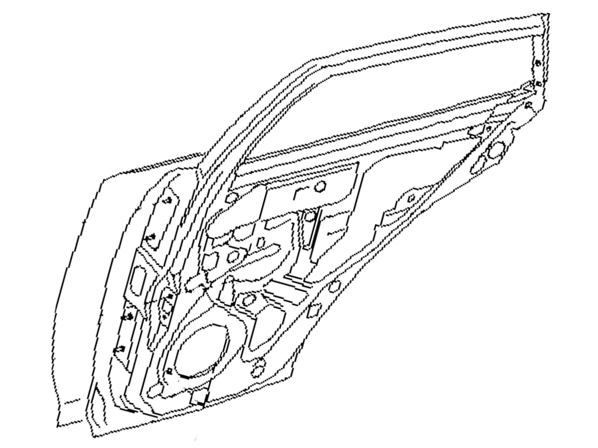 OEM FX35 / FX45 Rear Door Assembly , Performance OEM and