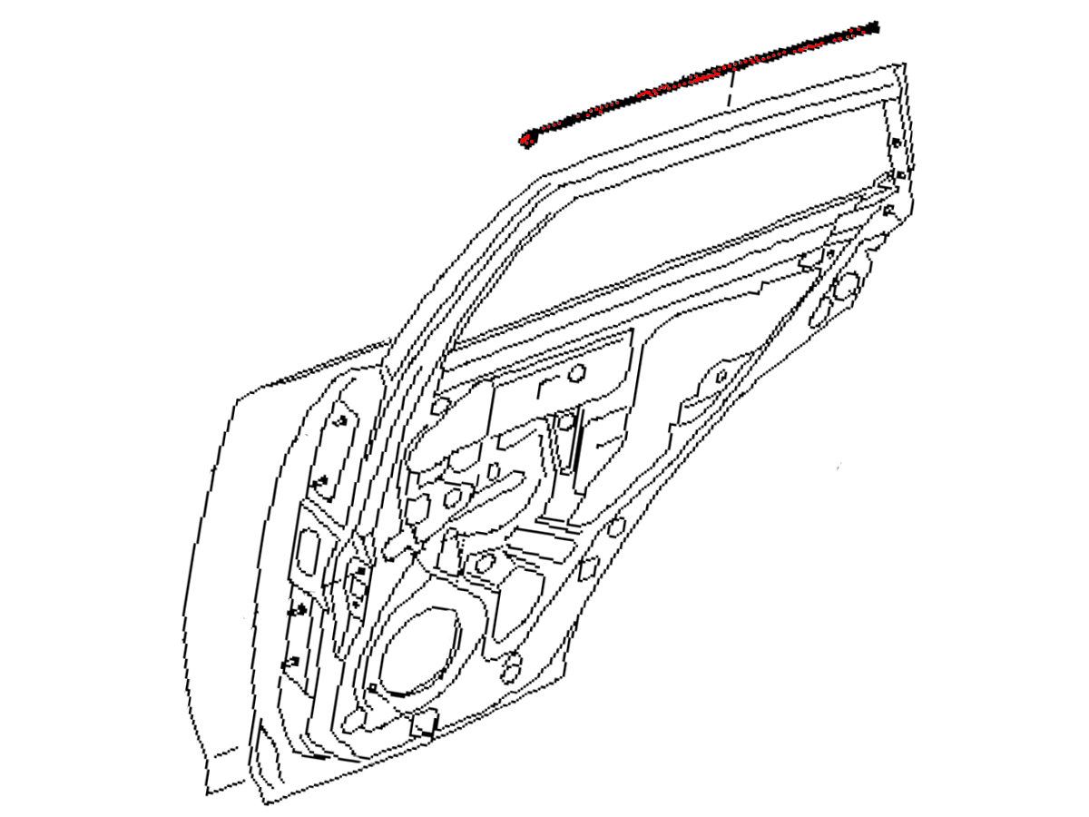 Oem Fx35 Fx45 Rear Door Outer Upper Trim Z1 Motorsports